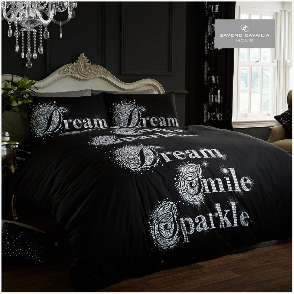 11098645 modern duvet set sparkle double black 1 1