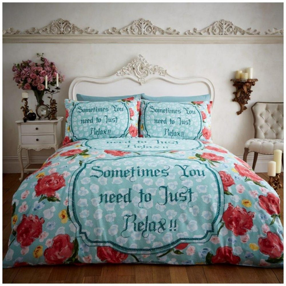 11102564 flannel printed duvet set relax double teal 1 2