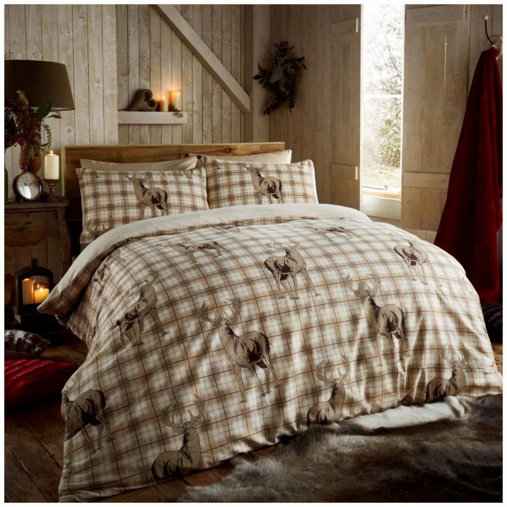 11102625 flannel printed duvet set richmond double natural 1 2
