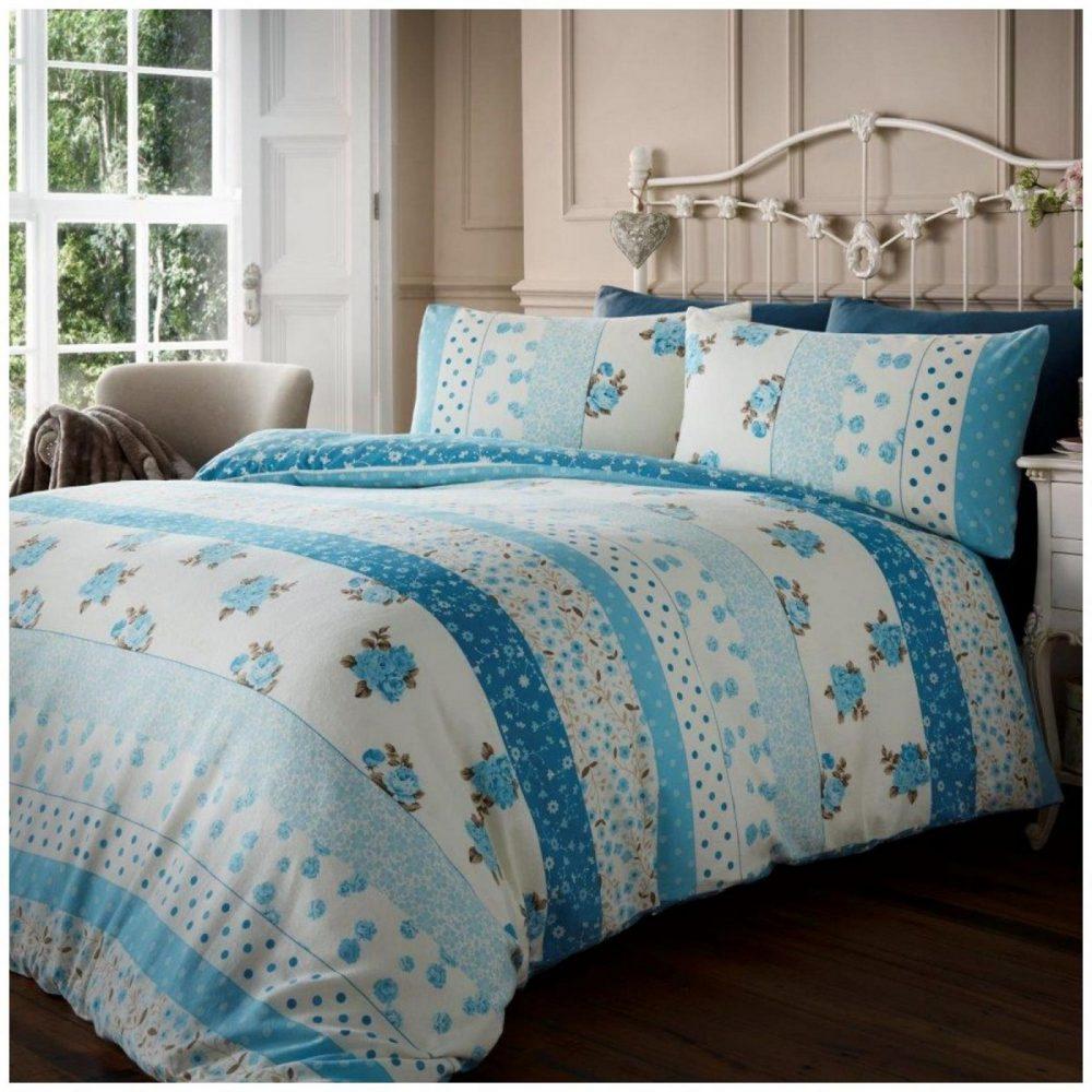 11106883 flannel printed duvet set vintage floral double teal 1 2