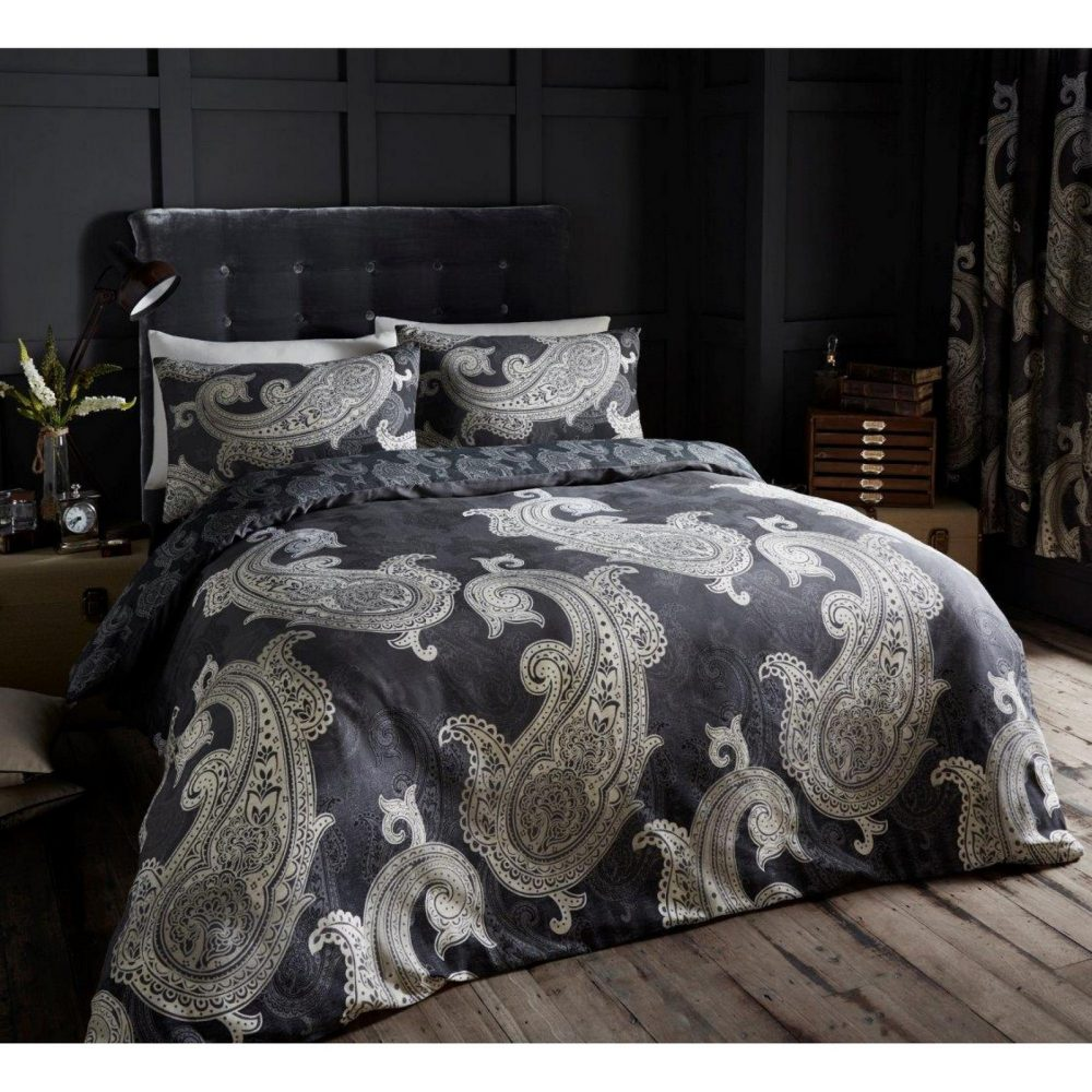 11110552 printed duvet set double paisley red 1 1