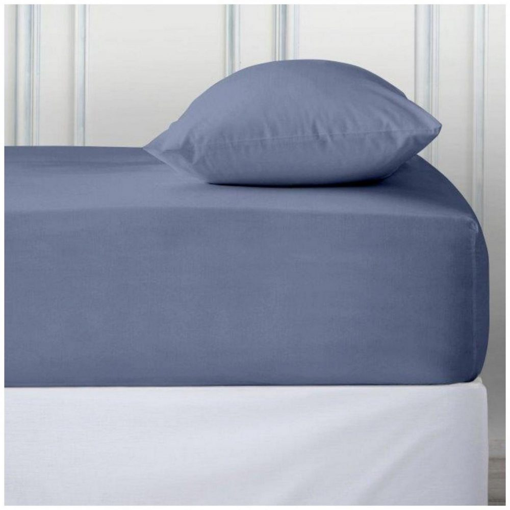 11110705 percale deep ftd sheet double blue 1 2
