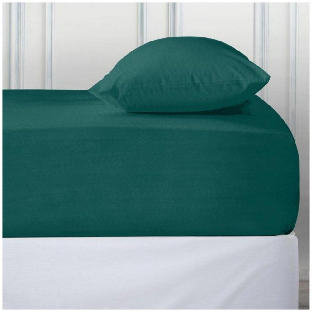 11110859 percale deep ftd sheet double teal 1 2