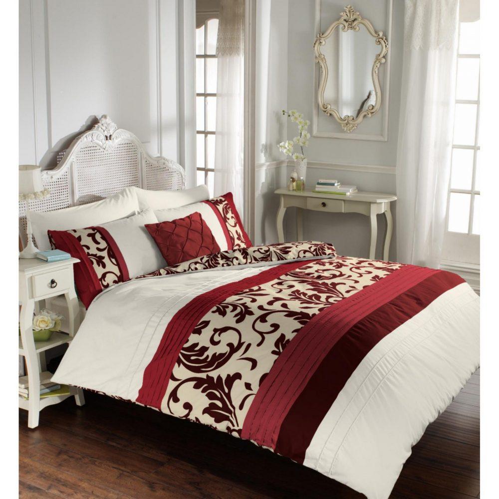 11113386 scroll duvet set double red 1 1