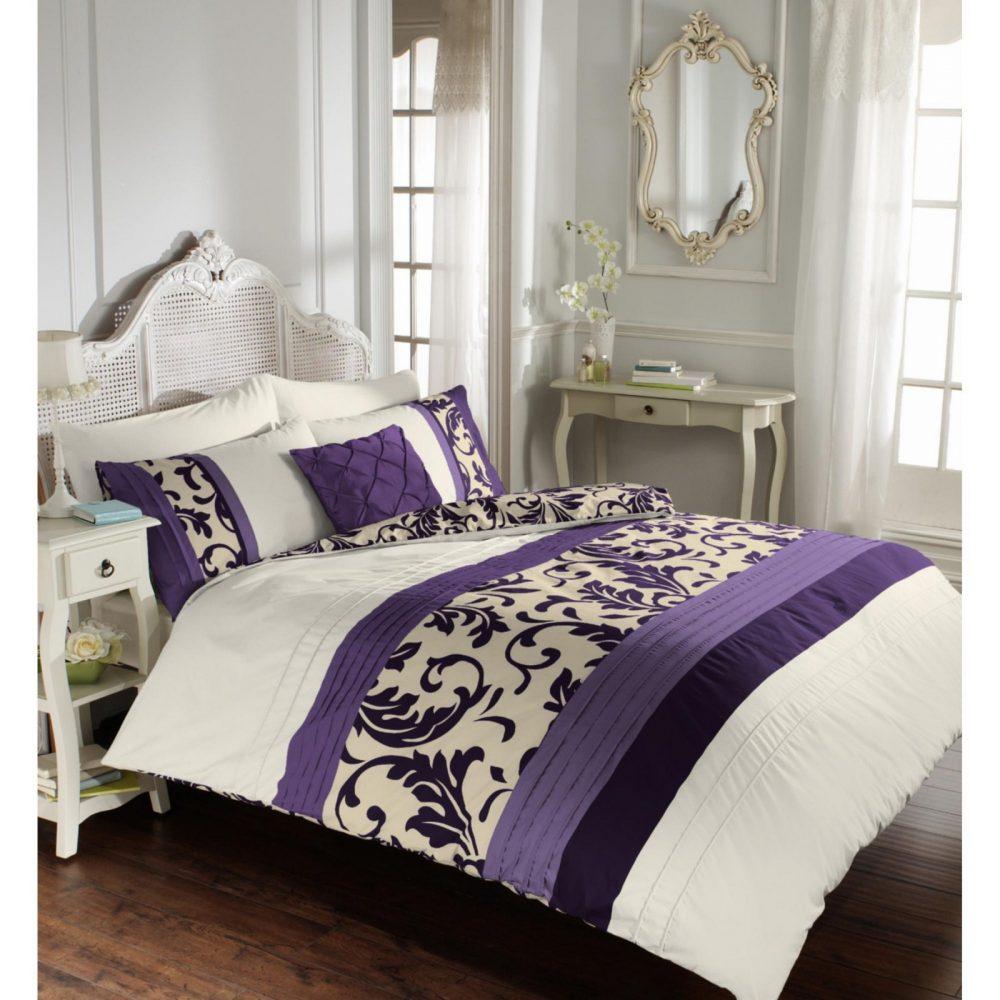 11113423 scroll duvet set double purple 1 1
