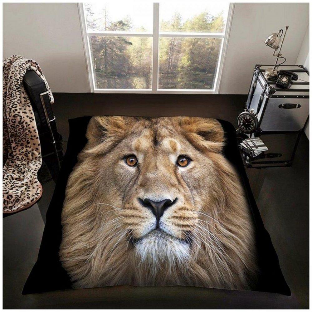11114833 3d printed throw 150x200 lion 1 2