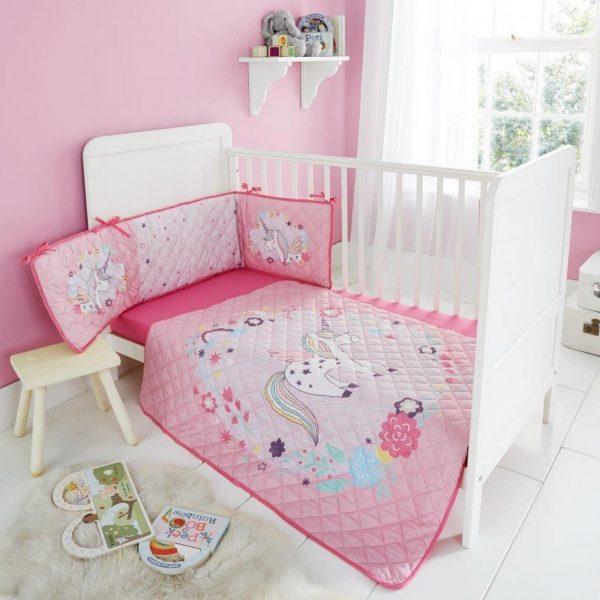 11119944 cot bumper set unicorn princess 1 2