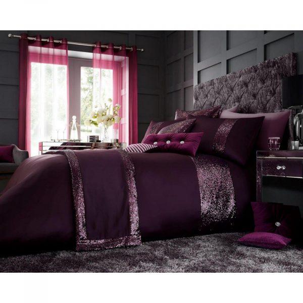 11120933 glamorous duvet set double aubergine 1 2
