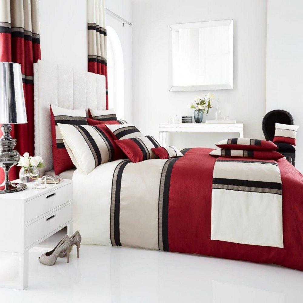 11123880 panama duvet set double red 1 1