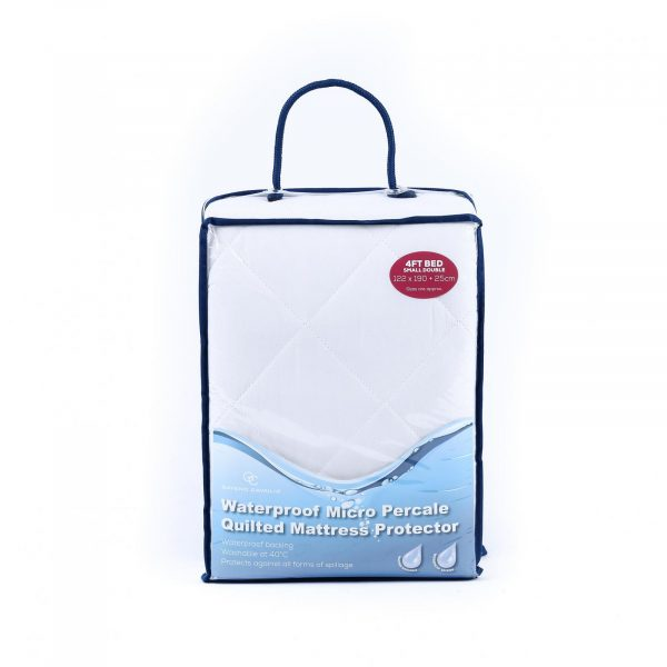 11128007 micro percale mattress protector waterproof 4ft 1 1