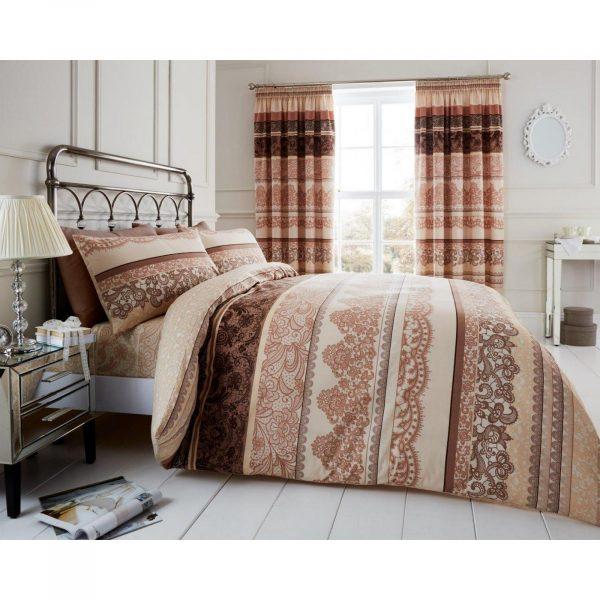 11128250 printed duvet set reverie double cream brown 1 2