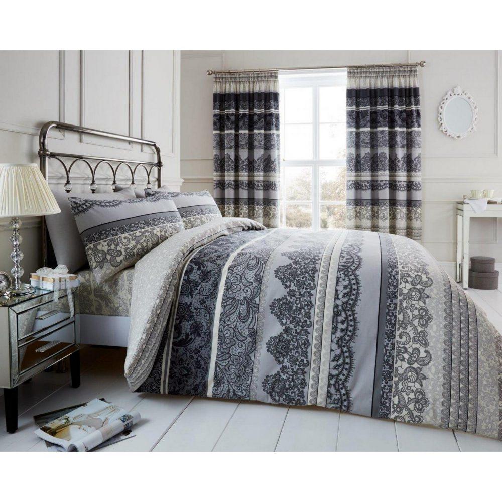 11128304 printed duvet set reverie double grey 1 1