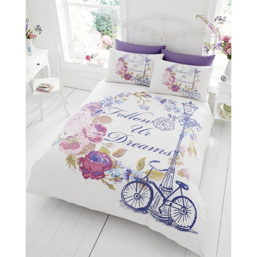 11128564 signature panel duvet set double follow your dream 1 2