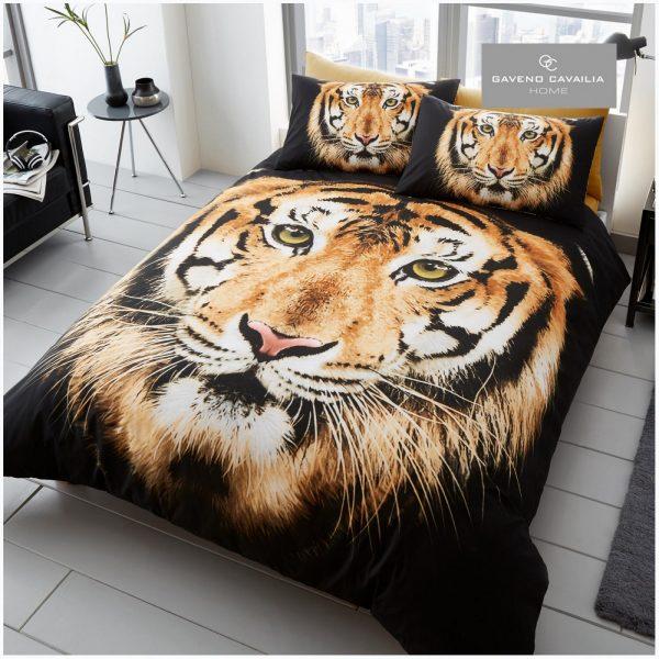 11129769 premium duvet set double 3d tiger face brown 1 2