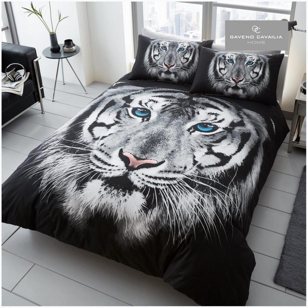 11129790 premium duvet set double 3d tiger face white 1 1