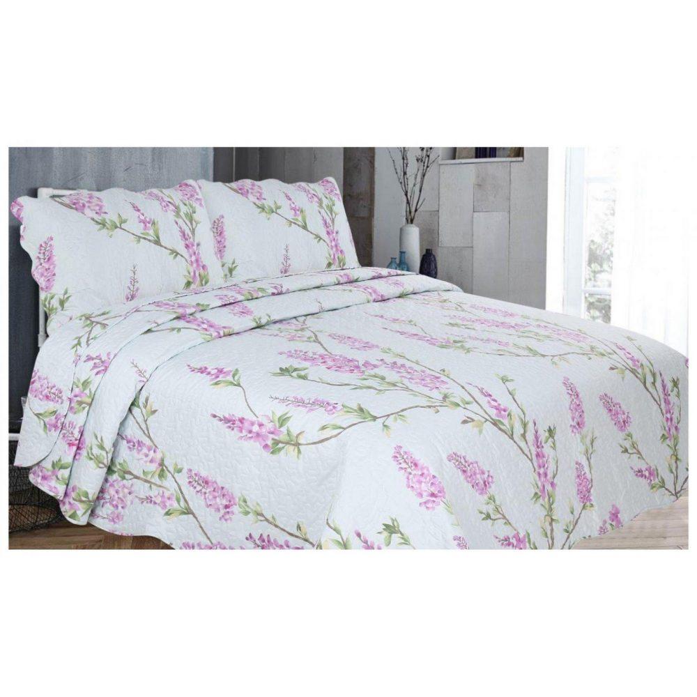 11129998 3pc printed bed spread wisteria double purple 1 2