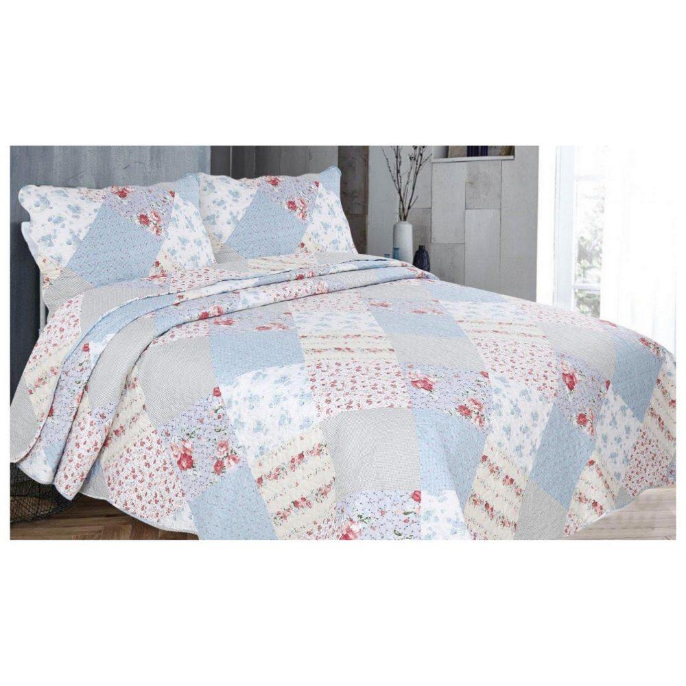 11130048 3pc printed bed spread brok hampton king multi 1 2