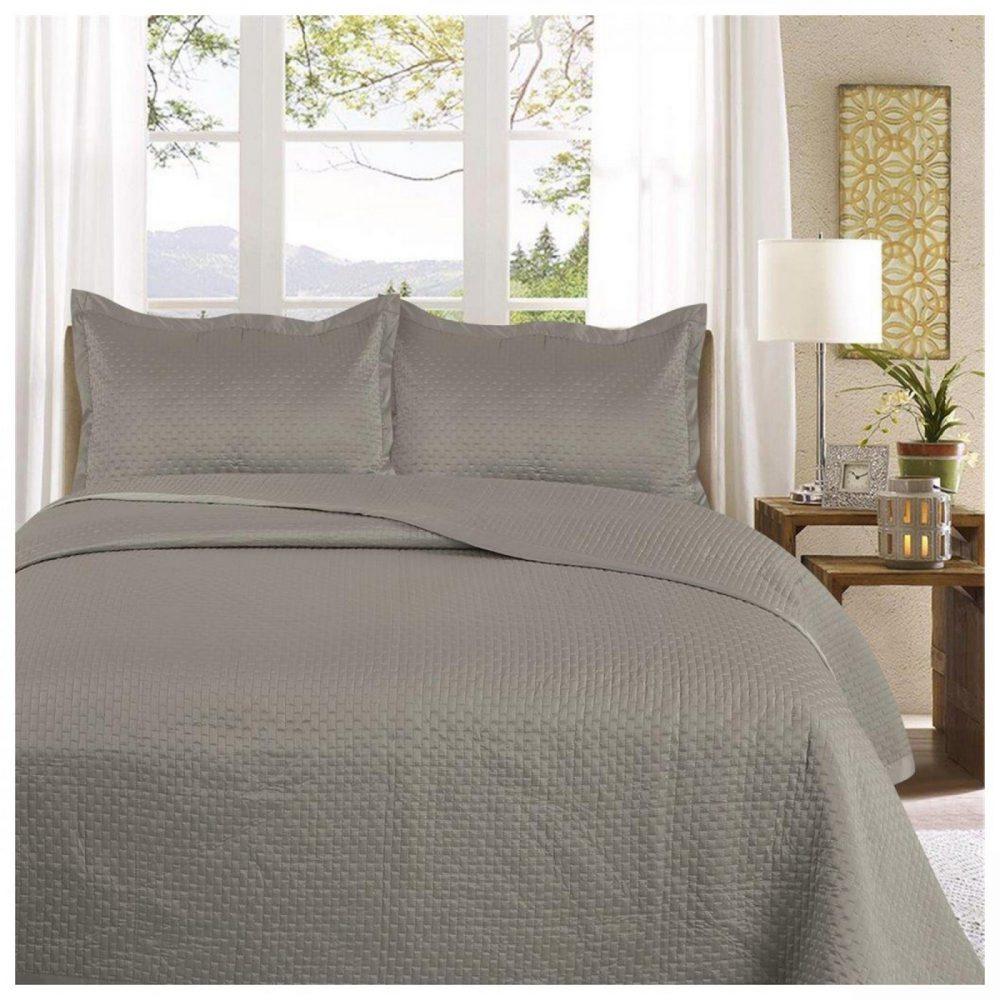 11130178 3pc plain bed spread samphire double grey 1 3