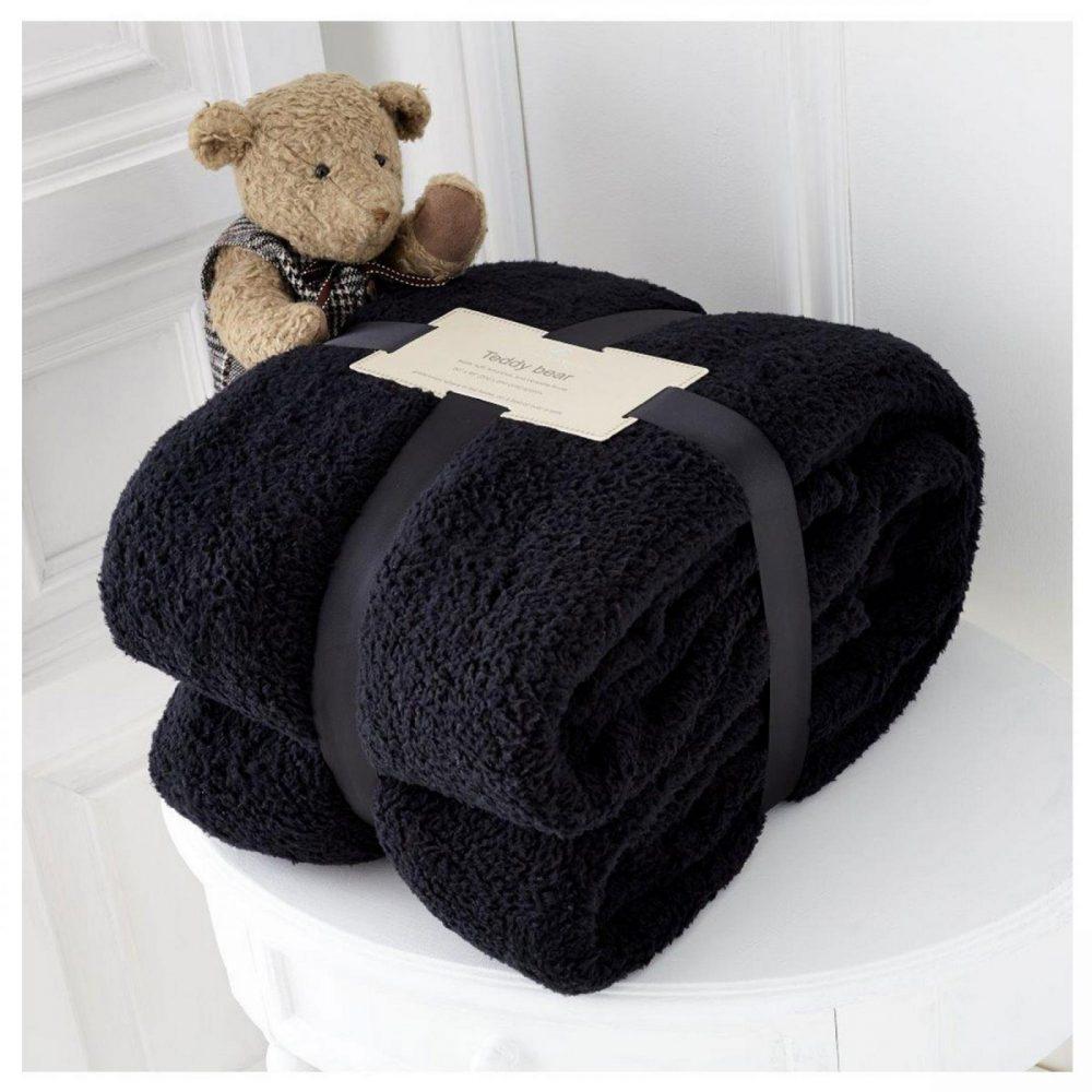 11131397 teddy collection throw 130x180 black 1 1