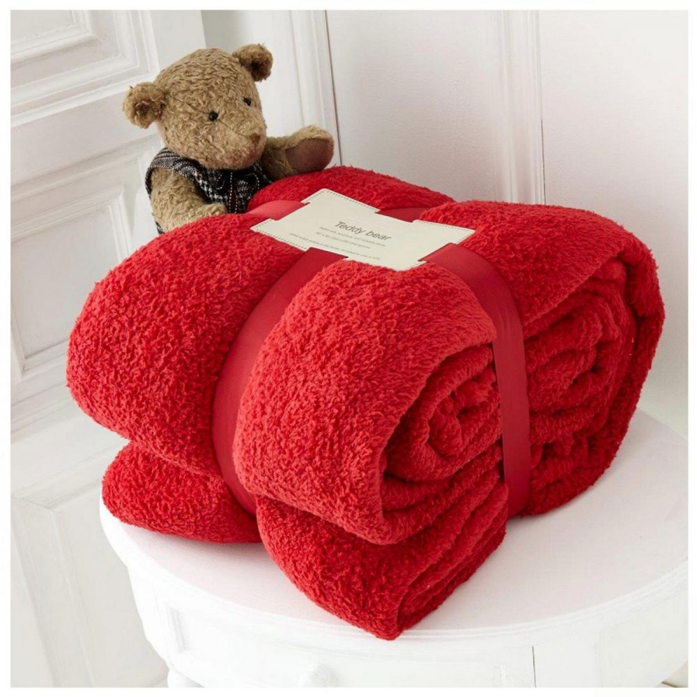 11131441 teddy collection throw 130x180 red 1 1