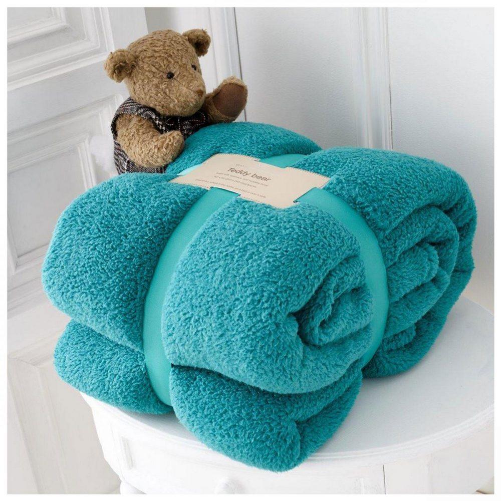 11131465 teddy collection throw 130x180 teal 1 1