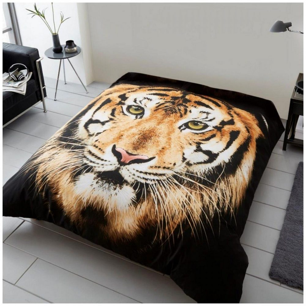 11132332 3d printed throw 150x200 tiger face brown 1 2