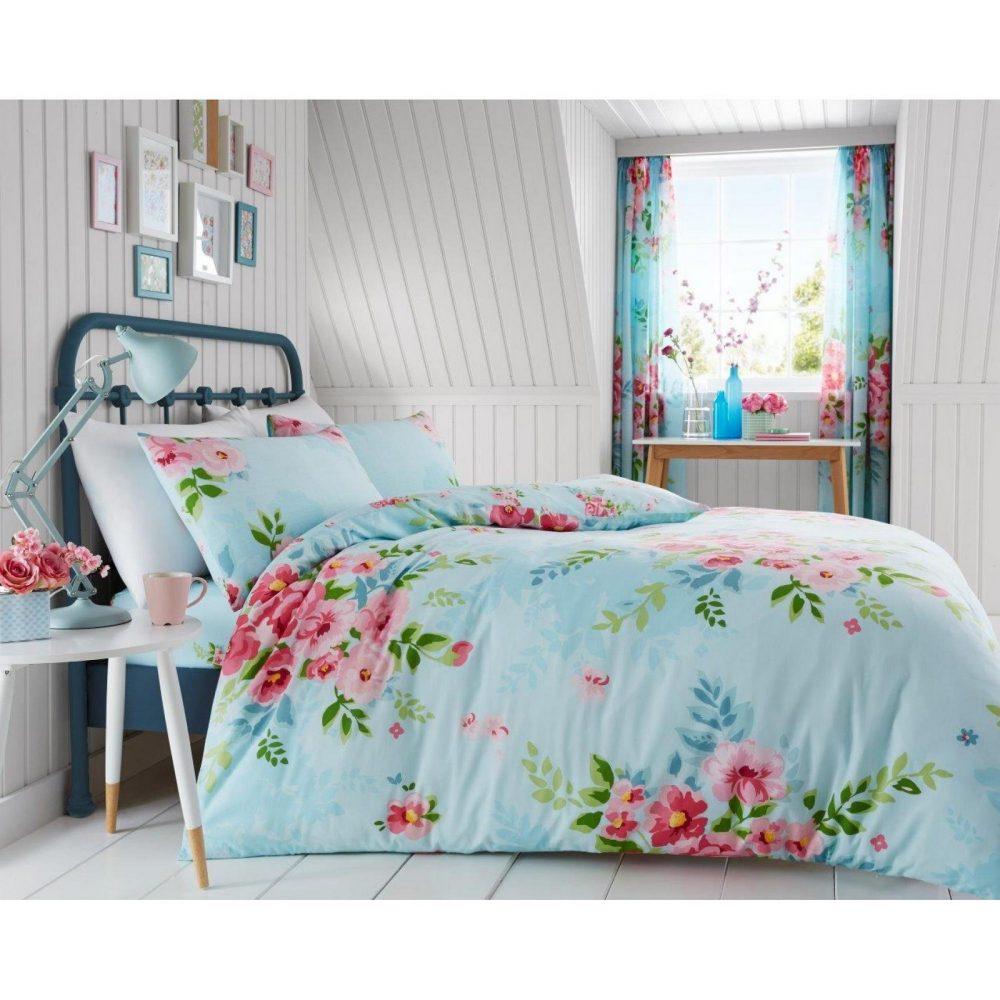 11133117 printed duvet set alice double turquoise 1 1