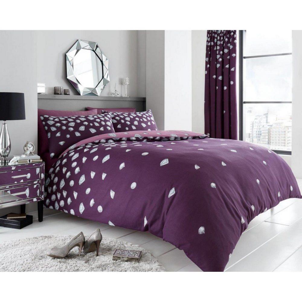 11134978 printed duvet set be jewelled double aubergine 1 1