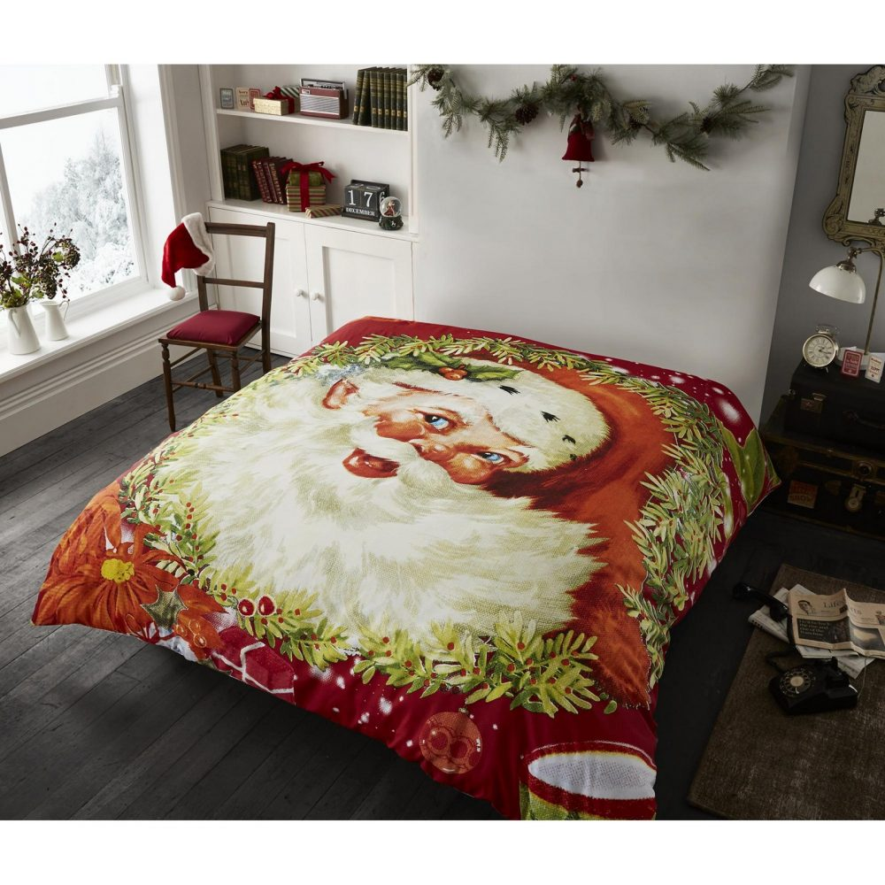 11135487 xmas traditional christmas double duvet set 1 2