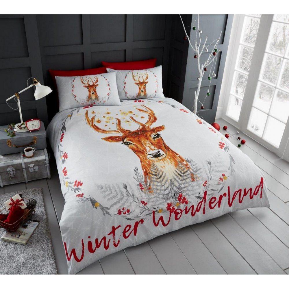 11135609 xmas winter wonderland double duvet set 1 2