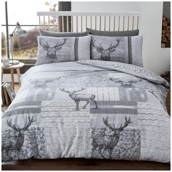 11135777 flannel duvet set new stag double grey 1 2