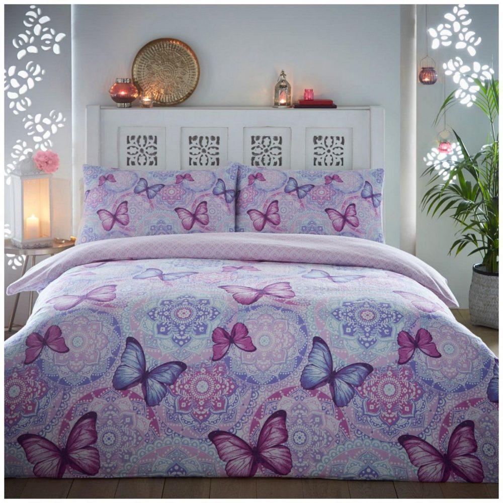 11135852 flannel boho butterfly duvet set double plum 1 3