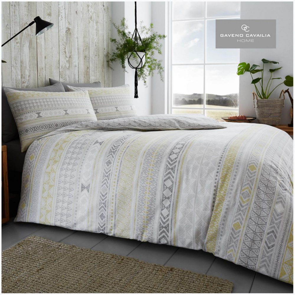 11135876 flannel tribal stripe duvet set double grey 1 2