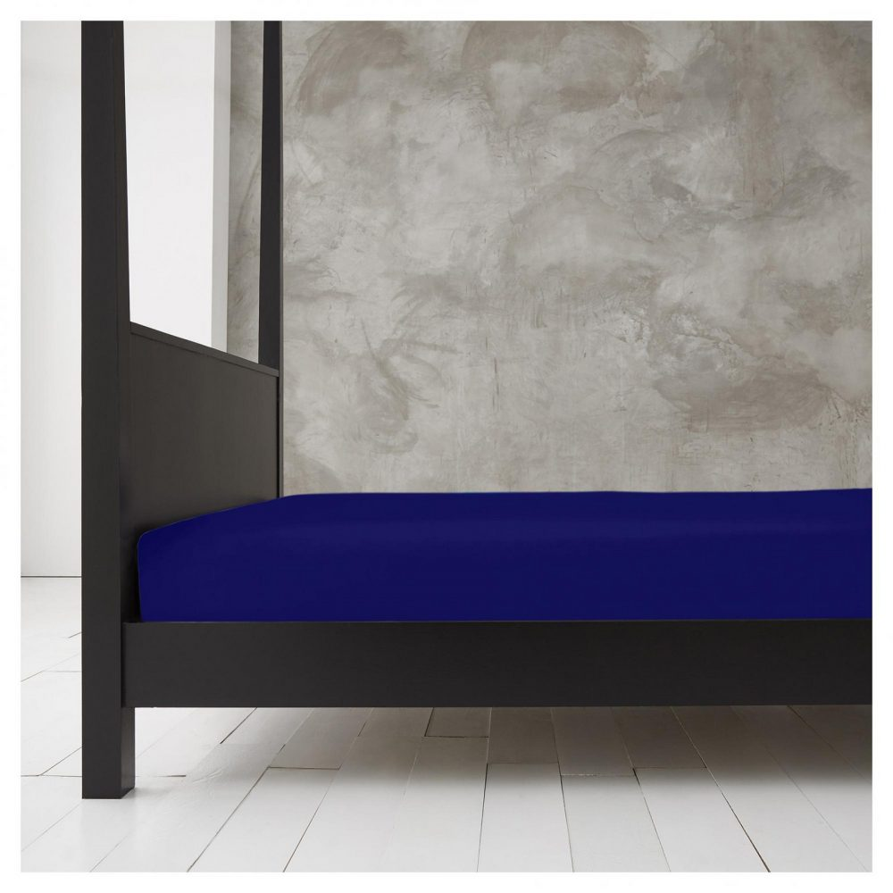 11143505 new diamond fitted sheet 4ft royal blue 1 1