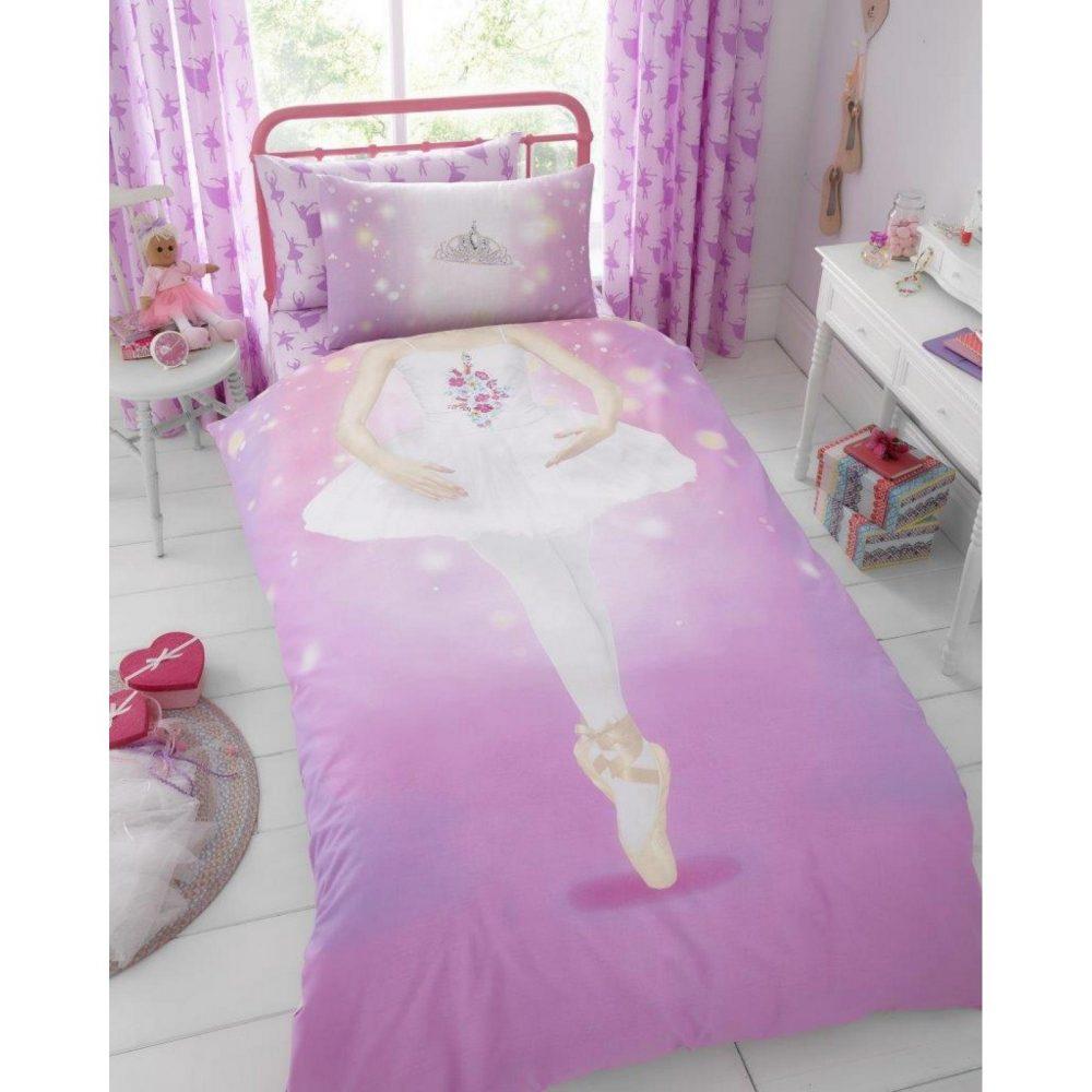 11147077 kids panel duvet set single ballerina 7077 1 1