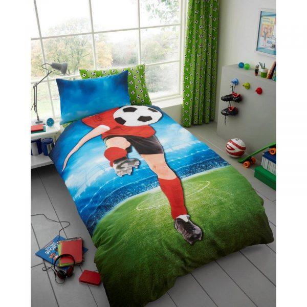 11147107 kids panel duvet set single football 7107 1 1