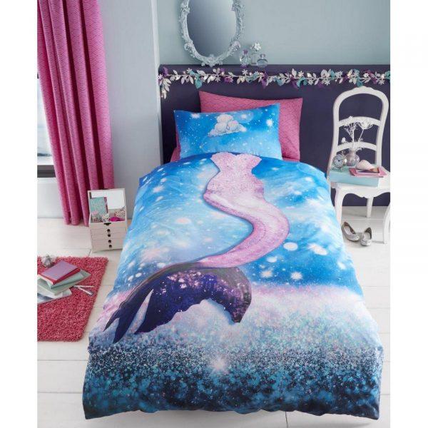 11147114 kids panel duvet set single mermaid 7114 1 1