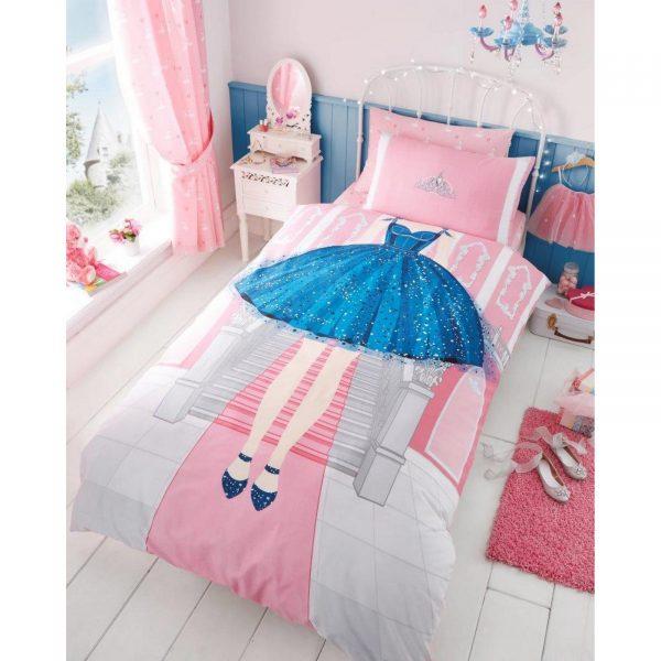 11147121 kids panel duvet set single princess 7121 1 1