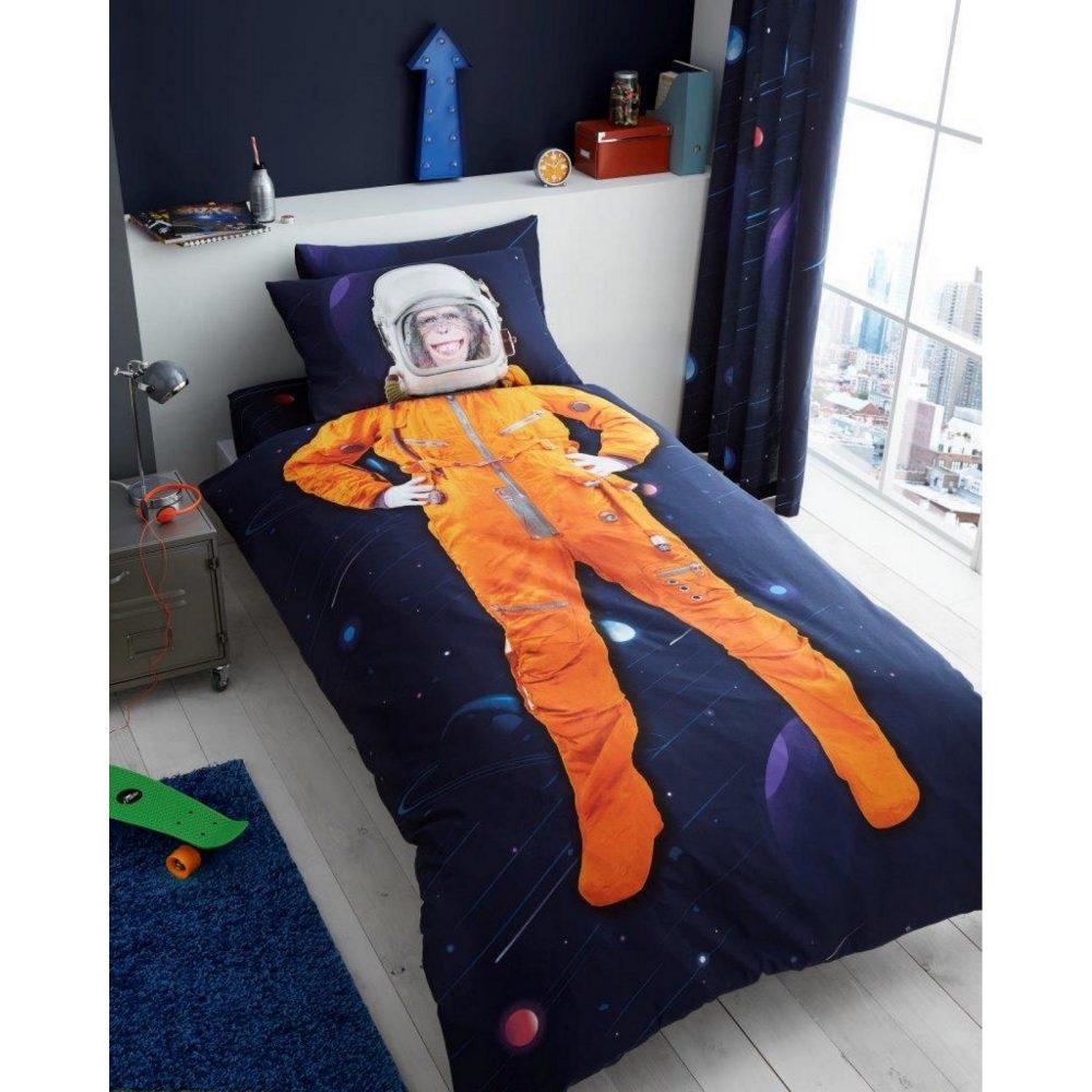 11147145 kids panel duvet set single space chimp 7145 1 1