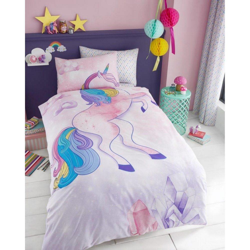 11147152 kids panel duvet set single unicorn 7152 1 1
