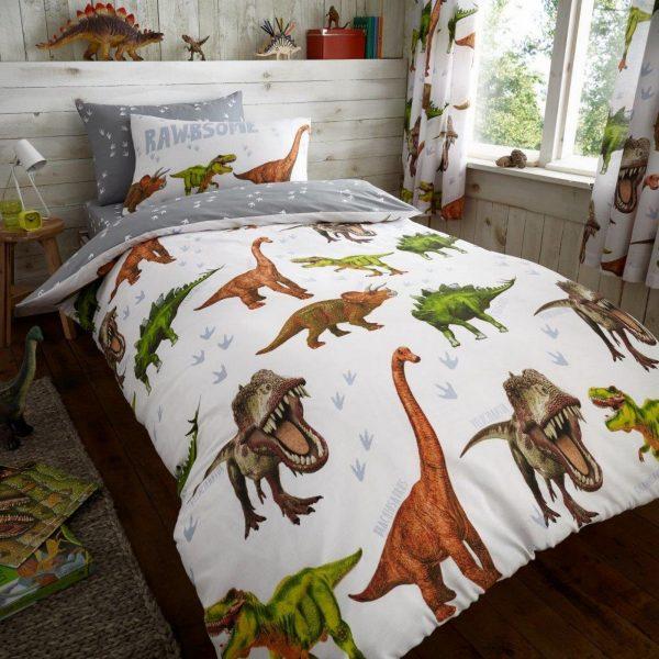 11147169 kids rotary duvet set single dinosaur 7169 1 1