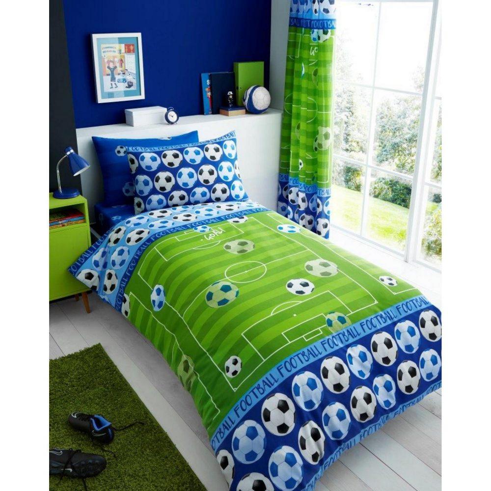 11147176 kids rotary duvet set single goal blue 7176 1 1