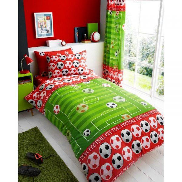11147183 kids rotary duvet set single goal red 7183 1 1