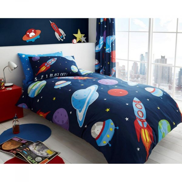 11147206 kids rotary duvet set single outer space 7206 1 1