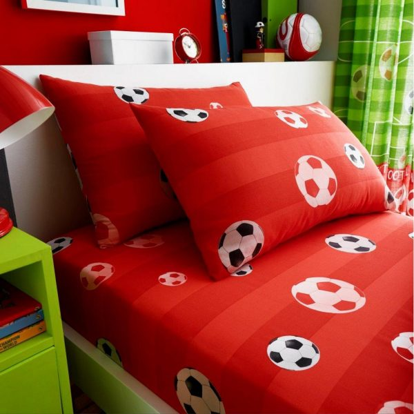 11147367 kids rotary sheet set single goal red 7367 1 1