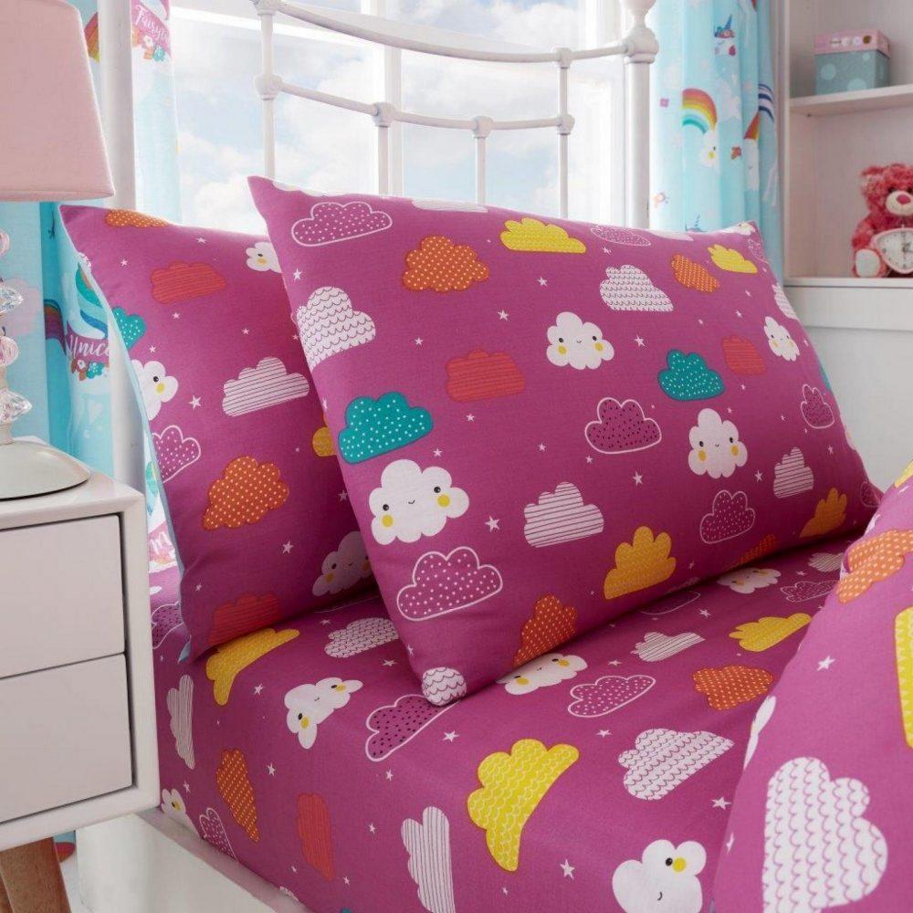 11147411 kids rotary sheet set single unicorn fairy tale 7411 1 1