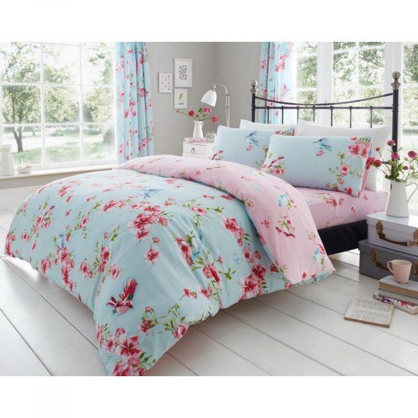 11147435 printed duvet set birdie blossom double blue 1 2