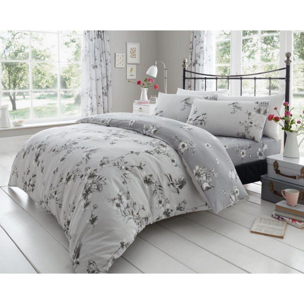 11147473 printed duvet set birdie blossom double grey 1 1