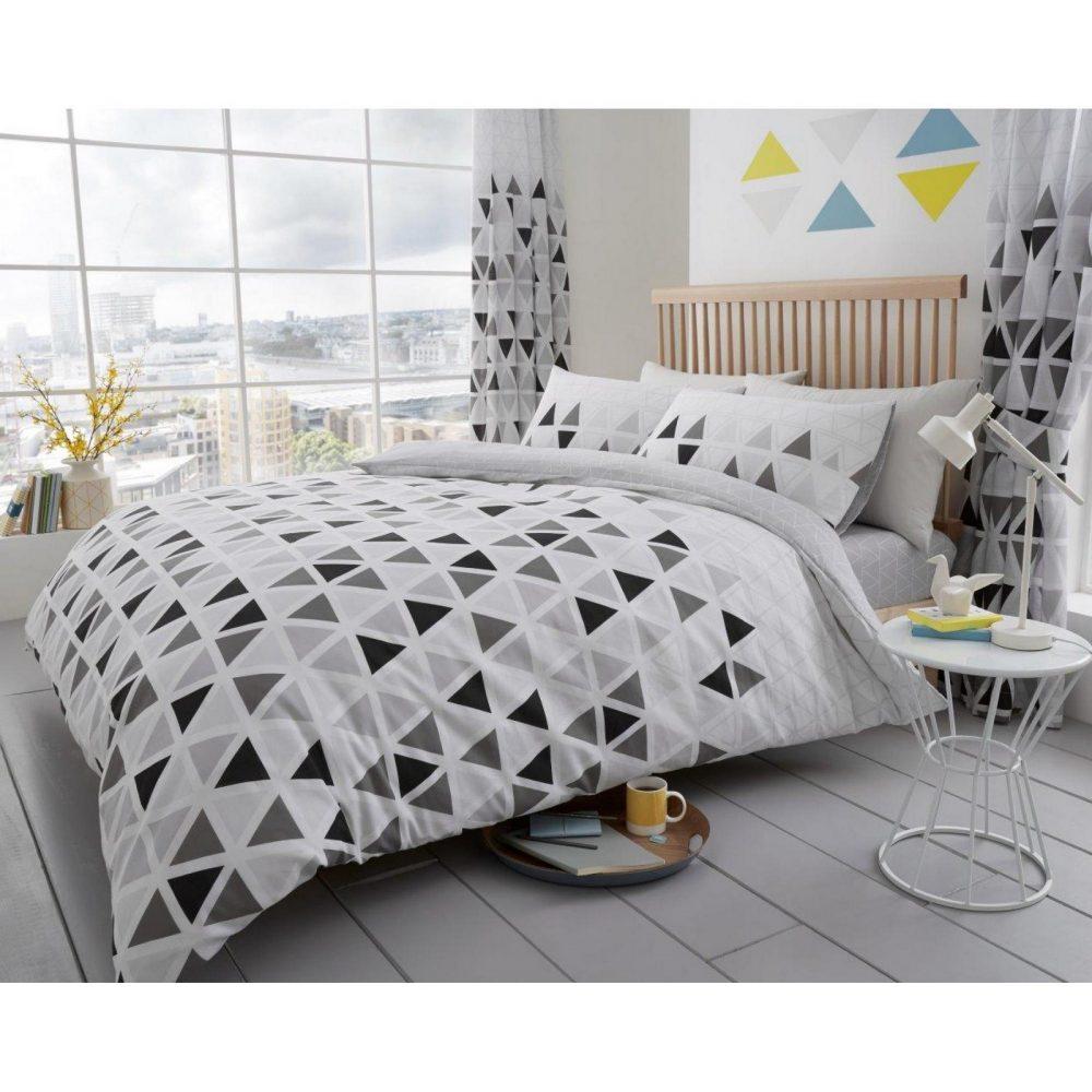 11147596 printed duvet set geo triangle double grey 1 2