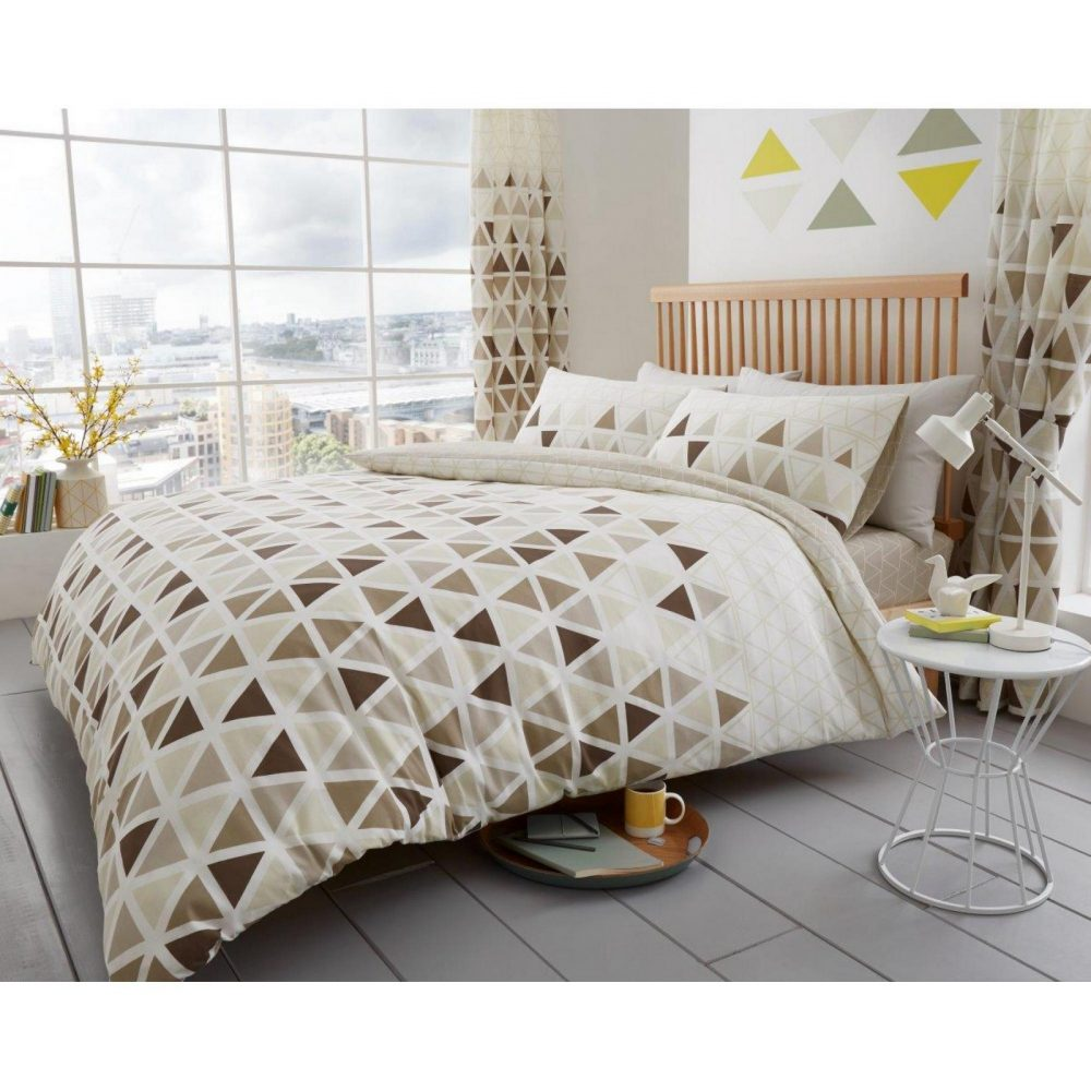 11147633 printed duvet set geo triangle double natural 1 1